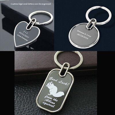 Personalized Custom Engraved Keychain Wedding Anniversary Gift Birthday Gift