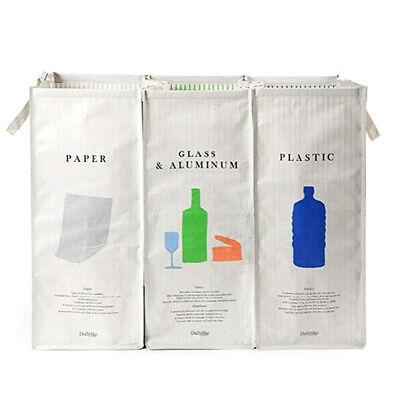 Withmolly 216 Separate Recycling Waste Bin Bags (Set of 3 Pack)