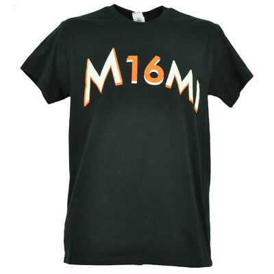 Miami Marlins Jose Fernandez 16 Black Tshirt Tee Baseball Short Sleeve Mens