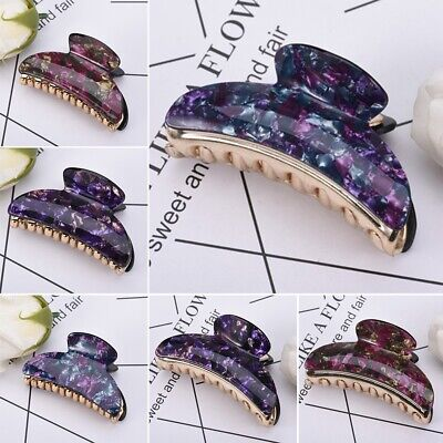 Fashion Women Floral Flower Hair Clips Claw Plastic Barrette Clamp Accessories