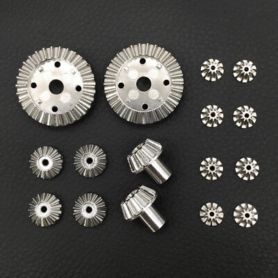 Metal Differential (16x Metal Differential Gear Repair Parts for WLtoys 12428-A/B/C 12423 RC Car)