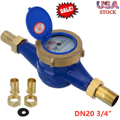 3420mm Garden Home Brass Flow Measure Tape Water Meter Copper Cold Dry Us An