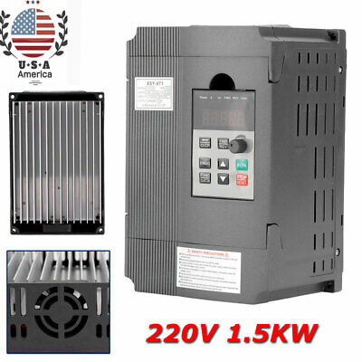 1.5kW 220V Variable Frequency Drive VFD Speed Controller for 3-phase AC Motor -
