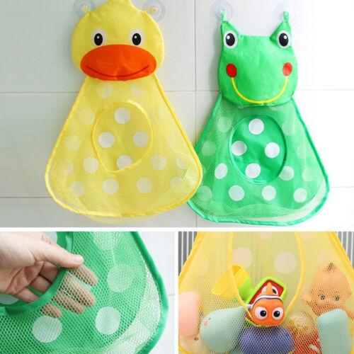 Baby Bath Bathtub Duck Frog Toys Mesh Net Storage Bag Organi