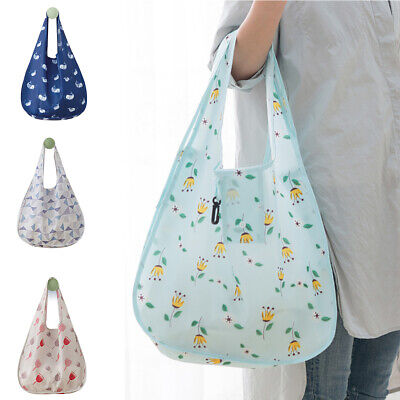 Eco-Friendly Reusable Foldable Handbag Shopping Tote Bag Storage Bags Welcome General Household Supplies