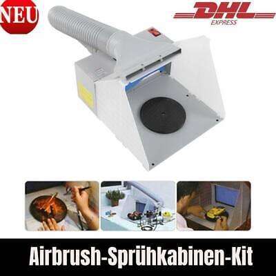 Airbrush Spritzkabinen Kit HS-E420DCLK Craft Spritzkabinen Extraktionsfilter