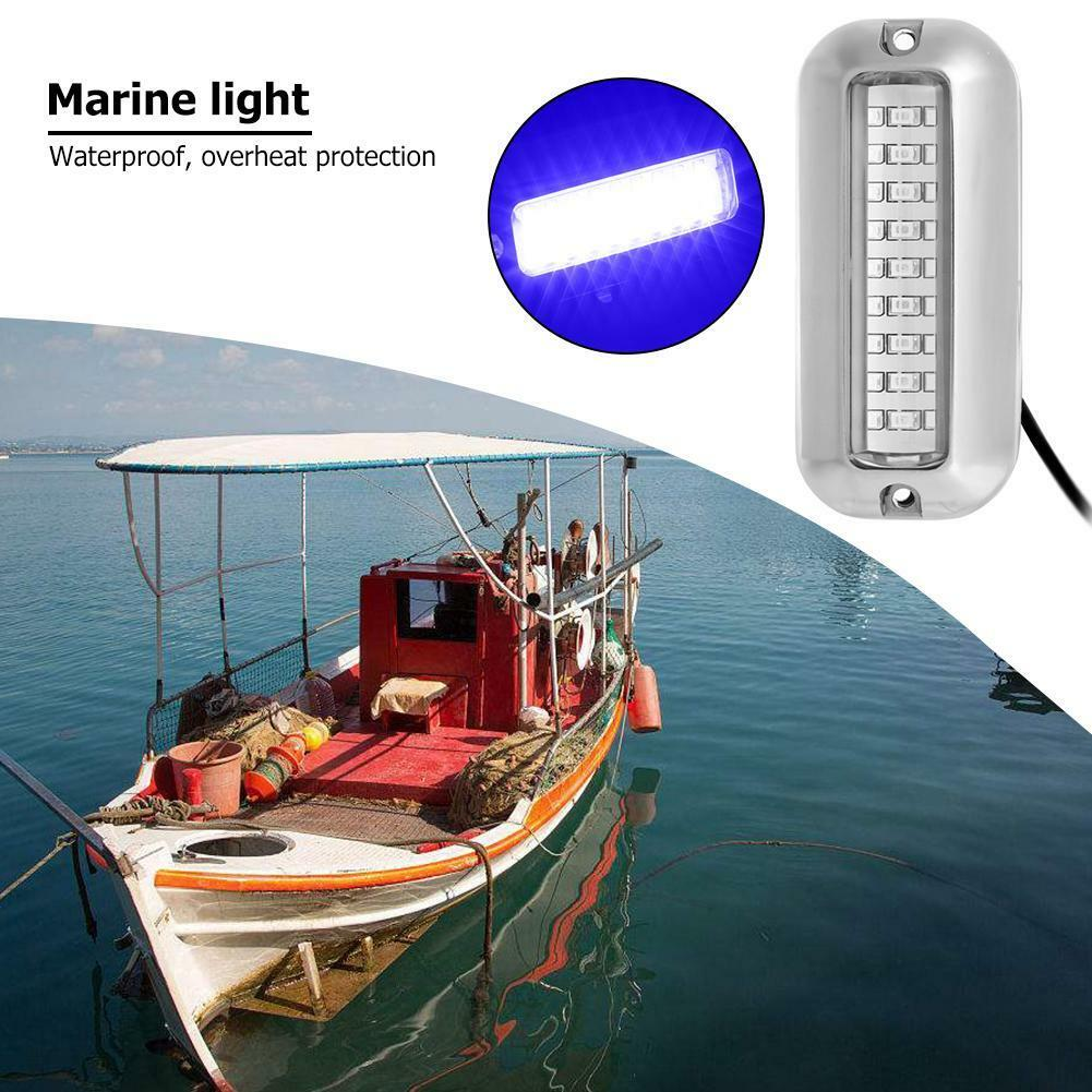 Atv,rv,boat & Other Vehicle Reasonable 50w 27led Red/blue/green Boat Light Underwater Pontoon Marine Transom Light Ip68 Waterproof Stainless Steel Anchor Stern Lamp Marine Hardware