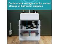 600mm Bathroom Sink Vanity Unit Basin Storage Cabinet White Furniture
