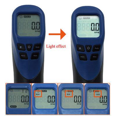 Digital Non-contact Laser Photo Tachometer Rpm Tach Tester Meter Speed Gauge