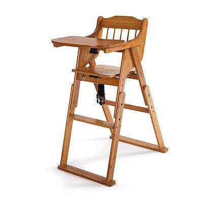 Baby High Chair Bamboo Stool Infant Feeding Children Toddler Restaurant hot sale