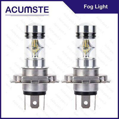 2X 6000K H4 9003 HB2 100W White CREE LED Fog Hi/Lo Beam Light Bulbs Driving DRL for sale  USA