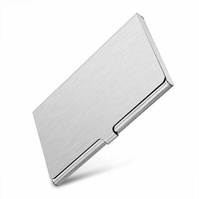 Pocket Stainless Steel N Metal Business Card Holder Case Id Credit Wallet Silver