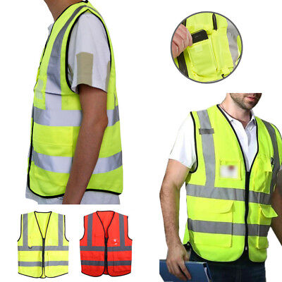 Reflective Vest High Visibility Safety Jacket Outdoor Construction Harness