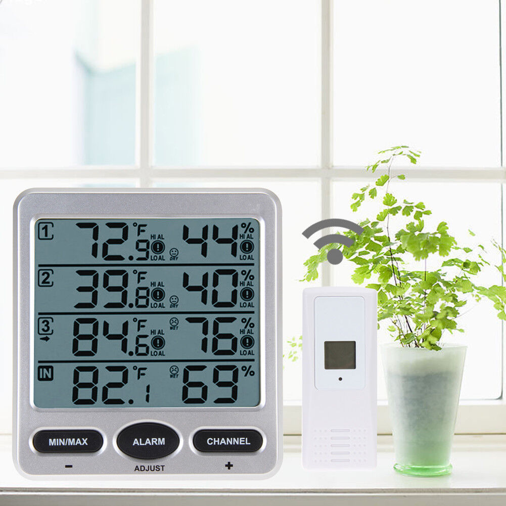 Ambient Wireless Weather WS-10 Indoor Outdoor Thermo-Hygrometer 3-Remote Sensor