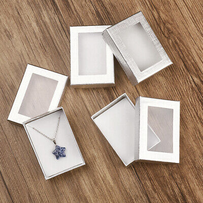 60pcs Silver Jewelry Gift Necklaces Earrings Rings  Boxes Present Case 9x6.5cm Necklace Present Gift Box Case