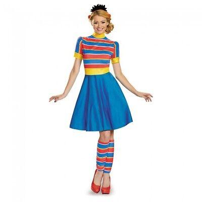 Sesame Street Ernie Fancy Dress Womens Adult Costume Halloween SM MD - Ernie Kostüm Halloween