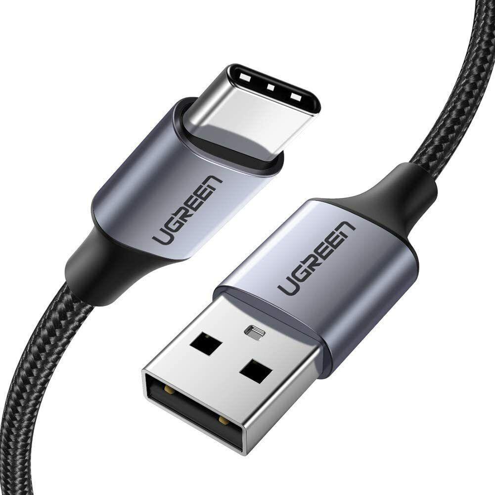 Ugreen Cavo 1 mt USB Type-C Ricarica Rapida 3A Nylon Nero