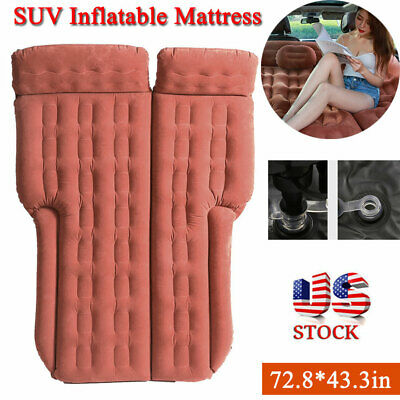 Inflatable Travel Camping Car SUV Seat Sleep Rest Spare Mattress Air Bed Pad Mat