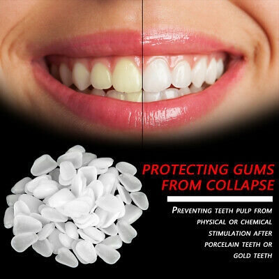 70pcsbag Resin Upper Lower Temporary Teeth Anterior Crown For Dental Oral Care