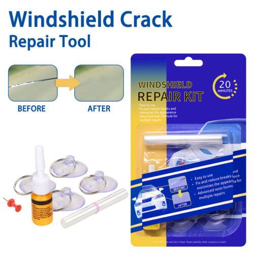 Car Windshield Glass Repair Kit Glass Crack Chip Scratch Corrector Blade Pullers