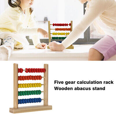 Mini Wooden Abacus Educational Toy Maths Counting Bead Kids Learning Kid Toys