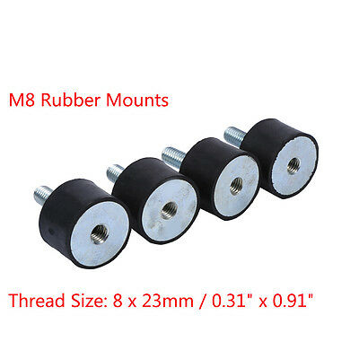 4pcs M8 Rubber Shock Absorber Anti Vibration Isolator Mounts Bobbins 30x20mm Bt