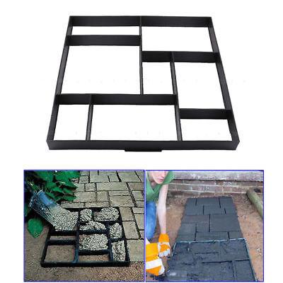 8 Grids Driveway Paving Pavement Mold Patio Concrete Stepping Stone Path Maker