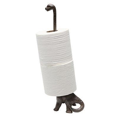 Dinosaur Toilet Paper Towel Holder Stand - Long Neck Brontosaurus Kitchen Bath