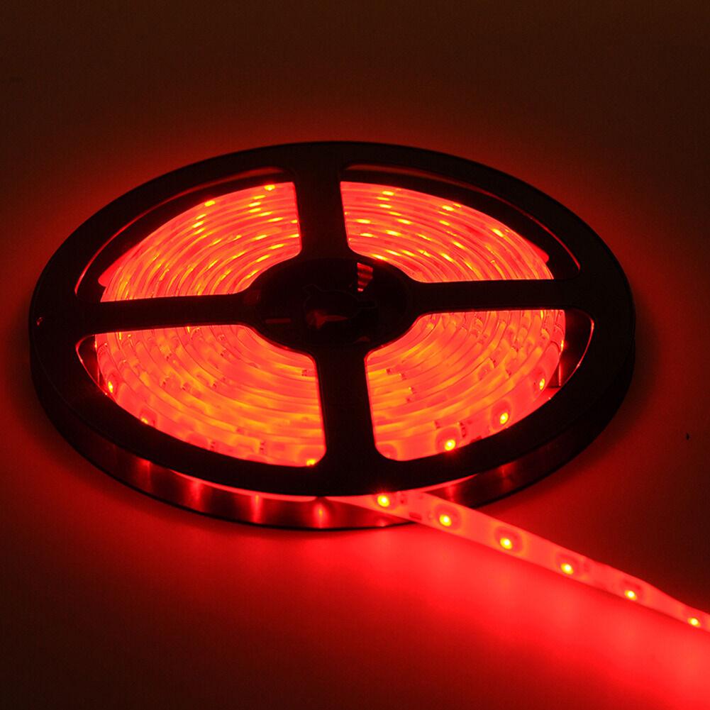 Smd 3528 High Quality Led Strip Lights 12 Volt Outdoor: Red 5M Waterproof 300 LED 3528 SMD Flexible LED Light Lamp