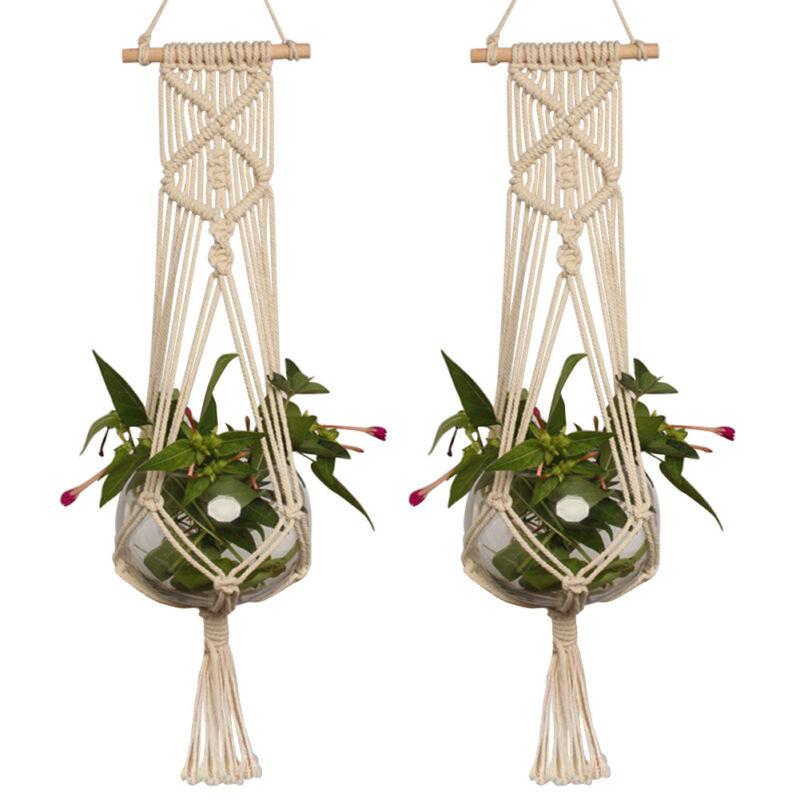 Plant Pot Holders Diy: Pot Holder Macrame Plant Hanger Hanging Planter Basket