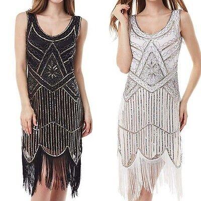 Women's Flapper Costume Gatsby Roaring 20s Halloween Fancy Party Dress US4-20 ()