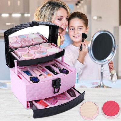 22 Stk Mädchen Beauty Kosmetik Make-up Sicherheit Schminkkoffer Kinder Spielzeug