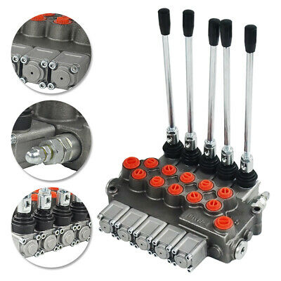 Double Acting Cylinder Spool 5 Spool Hydraulic Directional Control Valve