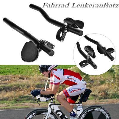 Fahrrad Lenker Aufsatz Armauflage Aluminium Triathlon Lenkeraufsatz Schwarz GL