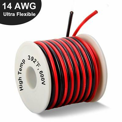 14 Gauge Silicone Tinned Copper Wire Spool 40 Feet Ultra Flexible High Temp New