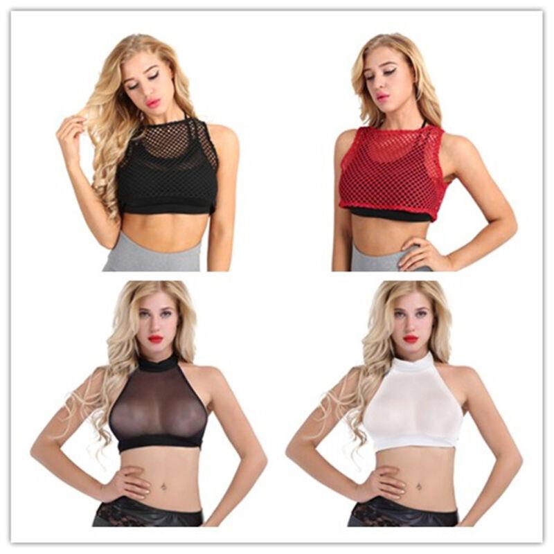 0eb2f79c791 Fashion Womens Fishnet Crop Tops Vest Tank Top Ladies Sleeveless Blouse  T-ShirtsUSD 3.99