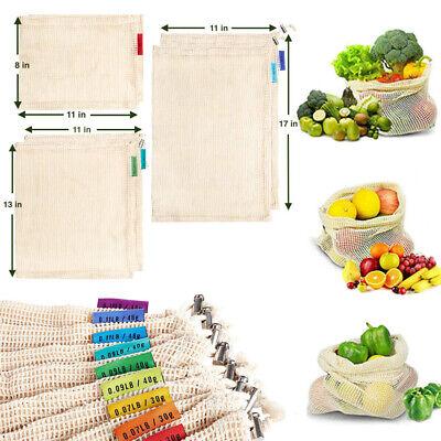 1/6Pcs Reusable Mesh Produce Bags Grocery Fruit Vegetable Storage Shopping Eco - Fruit Bag