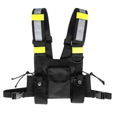 Wireless Tactics Security Waistcoat Safety Vest W.multi Pocketsadjustable Strap