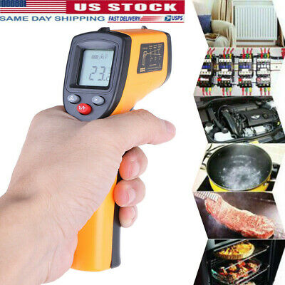 No-Contact LCD IR Laser Infrared Digital Temperature Thermometer Gun Pyrometers