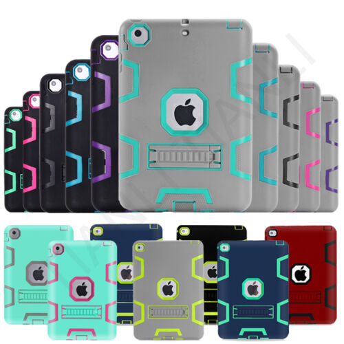 Ipad Mini Case - Kids ShockProof Rubber With Hard Stand Case Cover For iPad 2 3 4 ipad mini Air