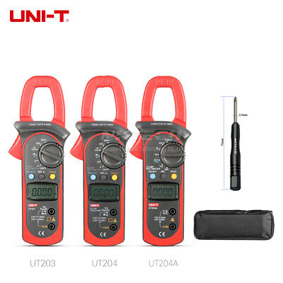 Uni-t Digital Clamp Meter Multimeter Ac Dc Volt Current Temp Res Frequency Test