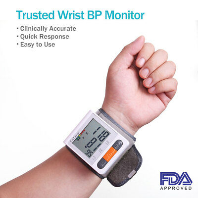 LotFancy Automatic Wrist Blood Pressure Monitor BP Cuff Machine Heart Rate Pulse