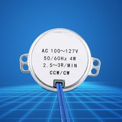 Synchronous Motor Ac 100-127v 2.5-3rpmmin 4w 5060hz Ccwcw