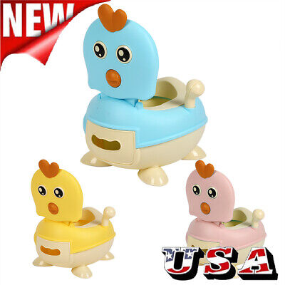 Cute Kids Trainer Toilet Potty Training Seat Baby Toddler Chair Padded Seat