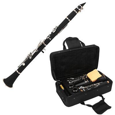 Bb Klarinette 17 Klappen B-Klarinette Blasinstrument mit Zubehör und Koffer