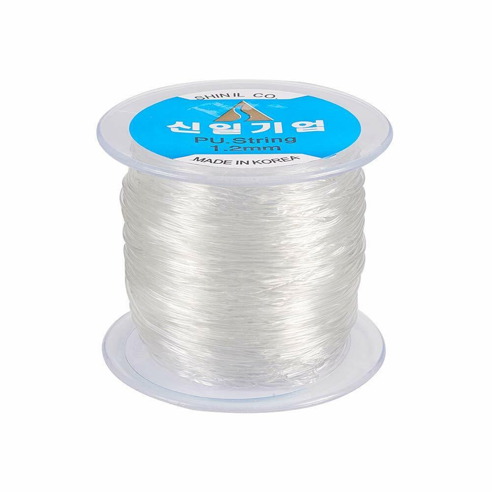 60 100m Elastic Cord Crystal Clear Stretch String For Jewelry