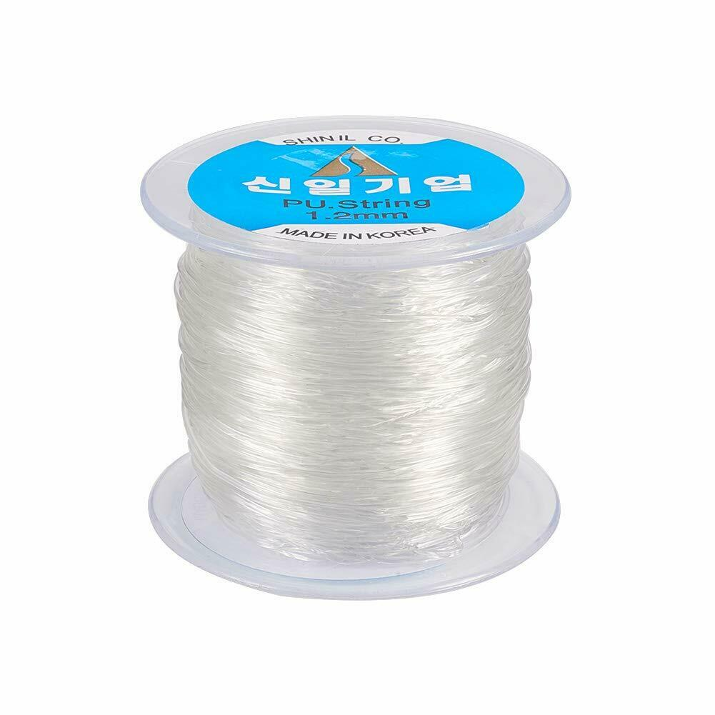 60 100m Elastic Cord Crystal Clear Stretch String For Jewelry Bracelet Making Ebay