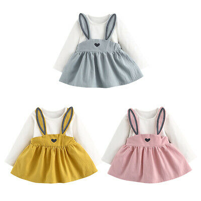 Easter Rabbit Bunny Fancy Cosplay Costume Dress Sundress for Toddler Baby Girls