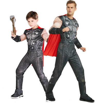 Thor Childrens Costume (US Boys Kids Deluxe Thor Avengers Endgame Fancy Dress Cosplay Costume)