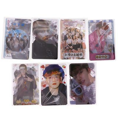 5Pcs Kpop Got7 Twice Exo Bts Bangtan Boys Hd Lustre Photocard Card Sticker Gift
